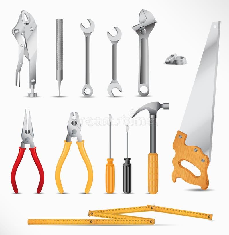 placez les outils illustration de vecteur