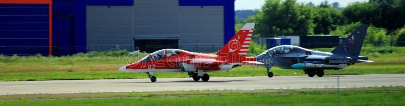Placez les panoramas d'Airshow MAKS 2017 en Russie photo libre de droits
