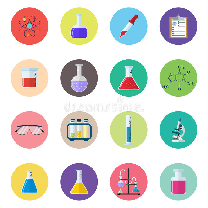 Placez les produits chimiques d'icône illustration libre de droits