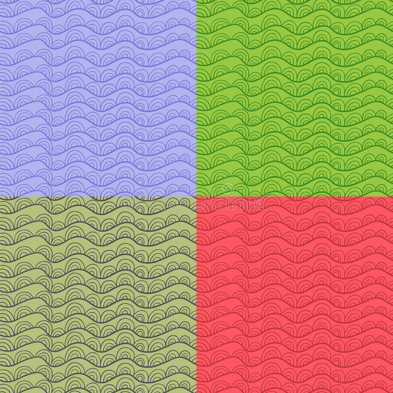Placez les sabots abstraits de vecteur d'ot. illustration stock