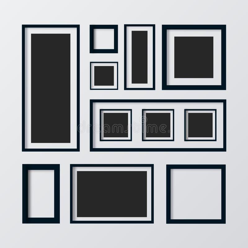 Placez les trames Galerie d'art de photo Cadre de tableau - vecteur illustration libre de droits