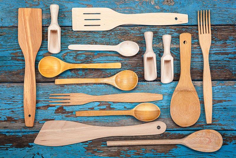 Placez les ustensiles de cuisine Accessoires pour la cuisson photo stock