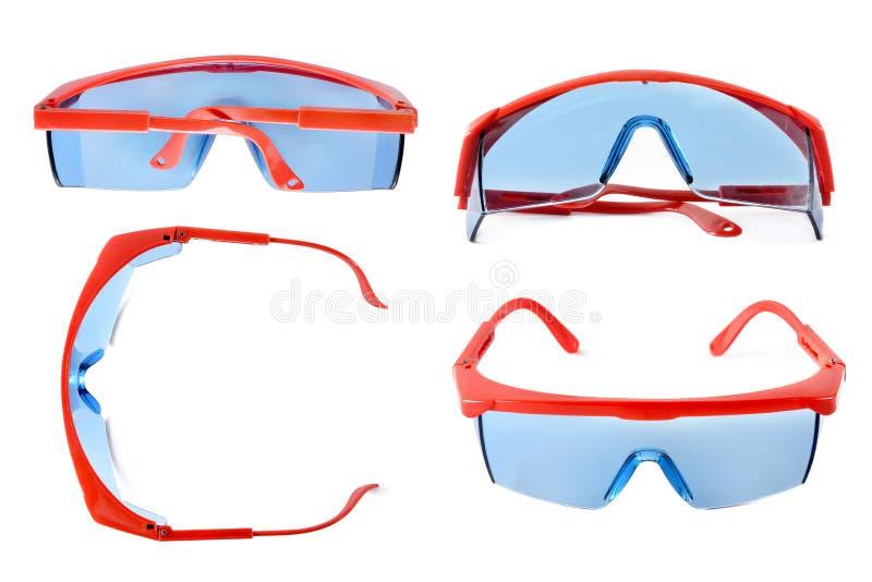 Placez les verres de sûreté pour la construction, médecine, laboratoire Isolant de lunettes image stock