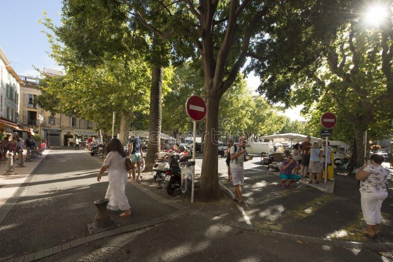 Placez Nationale, Antibes, France images libres de droits