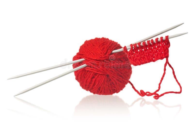 Placez pour le tricotage image libre de droits