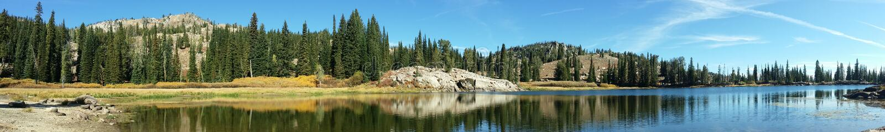 Placid Lake royalty free stock photo