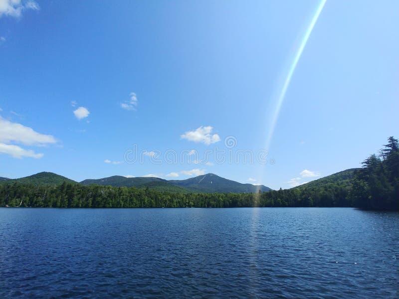 Placide du lac Whiteface Mountain photos stock