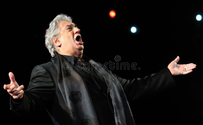 Placido Domingo. A portrait of Placido Domingo during a live concert royalty free stock photos