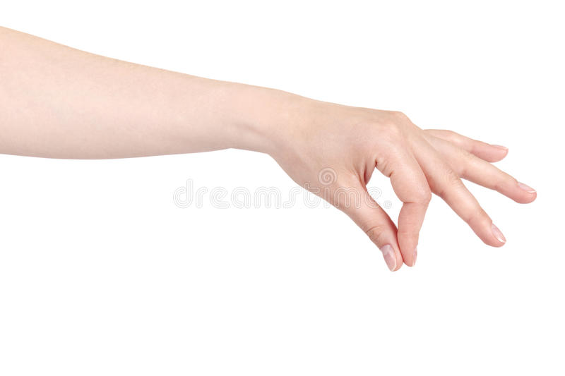 Placing Or Pinching Hand Sign Stock Image - Image of