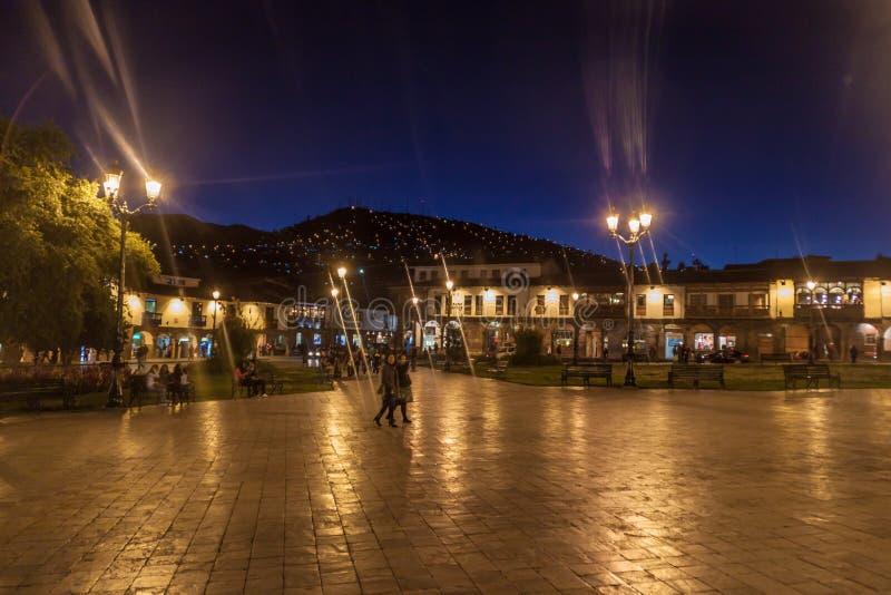 Placu De Armas kwadrat w Cuzco, Peru obrazy royalty free