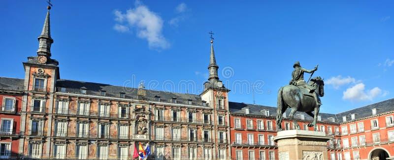 Placu Mayor kwadrat w Madryt Hiszpania fotografia stock