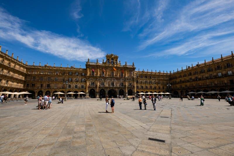 Placu Mayor, Salamanca obraz stock