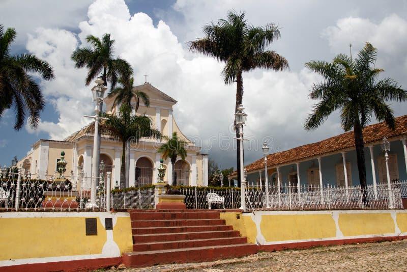 Placu Mayor w Trinidad de Kuba zdjęcie stock