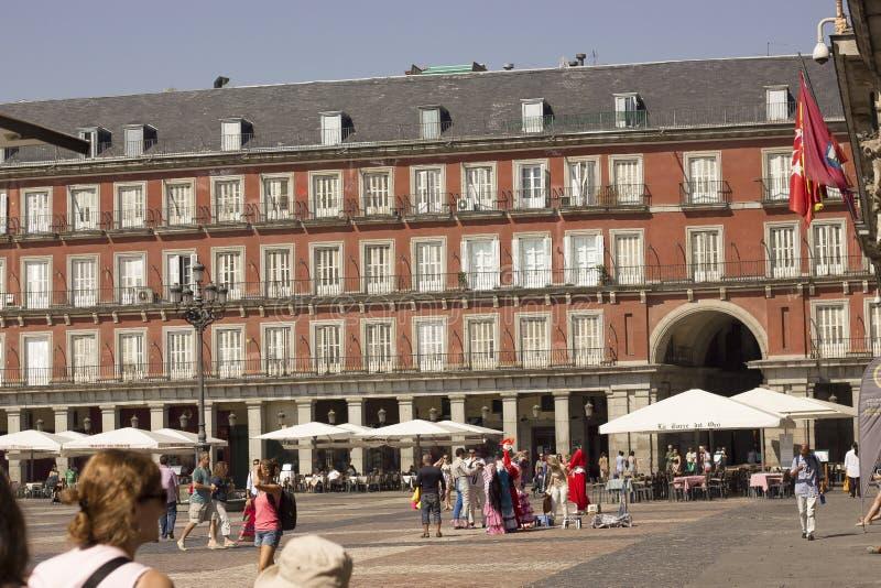 Placu real, Madryt Hiszpania, Sierpień, - 17, 2013 zdjęcie royalty free