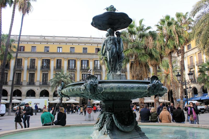 Placu real w Barcelona, Catalonia, Hiszpania fotografia royalty free