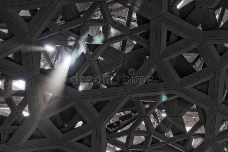 Plafond abstrait avec les entr?es l?g?res photographie stock libre de droits
