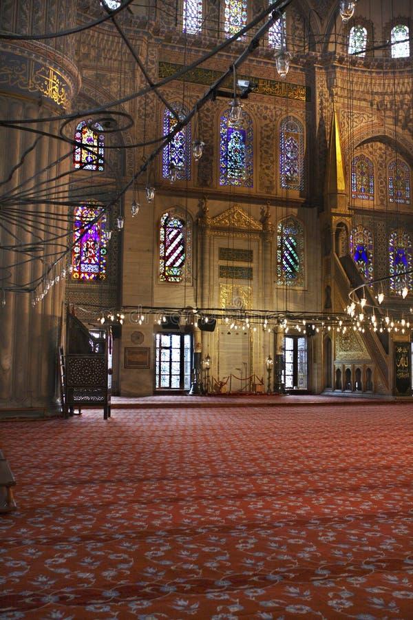 Plafond bleu de mosquée images stock