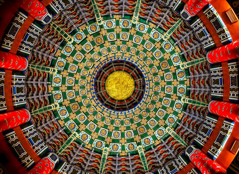 Plafond décoratif au pavillon chinois photos libres de droits