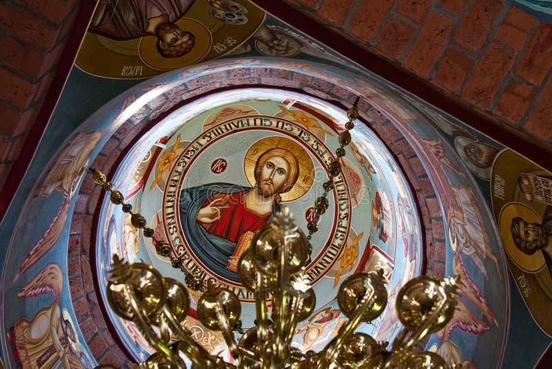 Plafond d'église - peintures image stock
