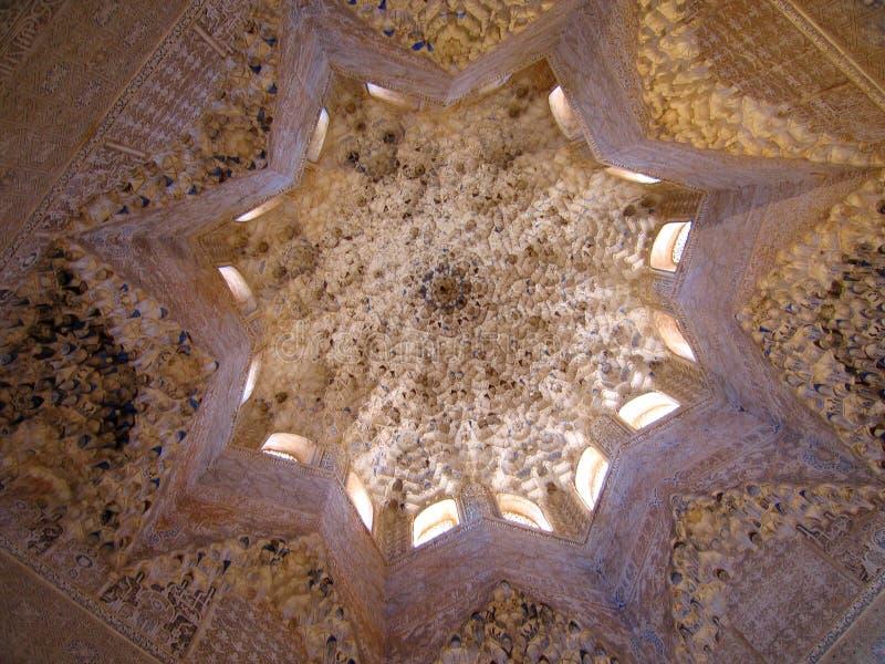 Plafond d'Alhambra image stock