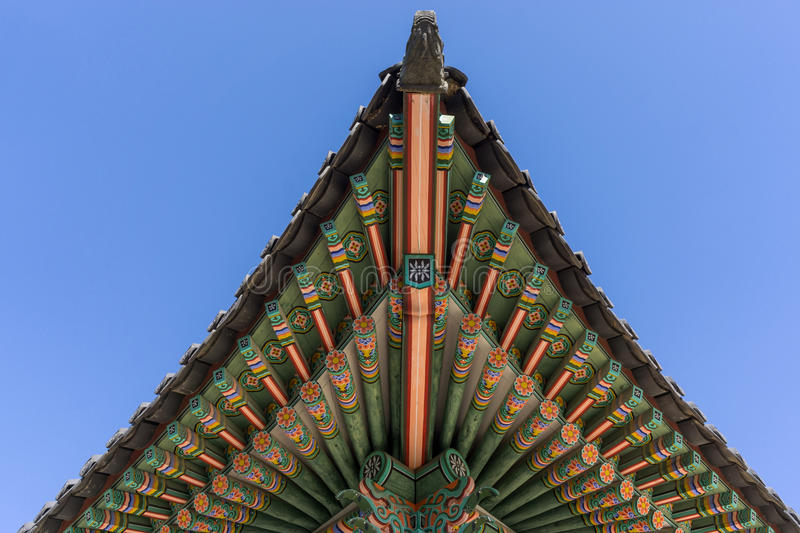 Plafond d'architecture de Changdeokgung photographie stock libre de droits