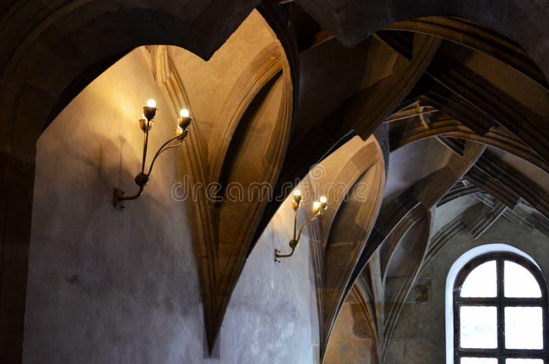 Plafond d'un bâtiment médiéval à Prague photos libres de droits