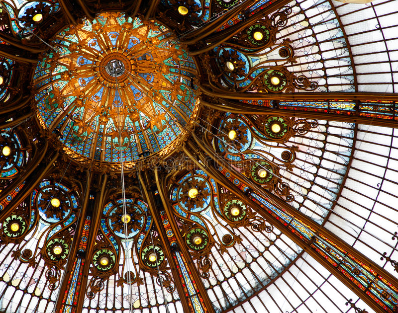 Plafond dans les rampes Lafayette image stock