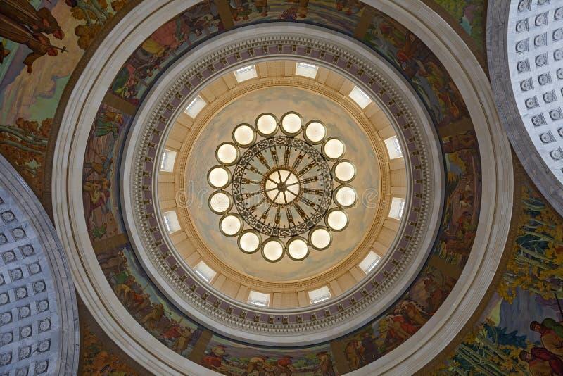 Plafond de capitol d'état de l'Utah image libre de droits