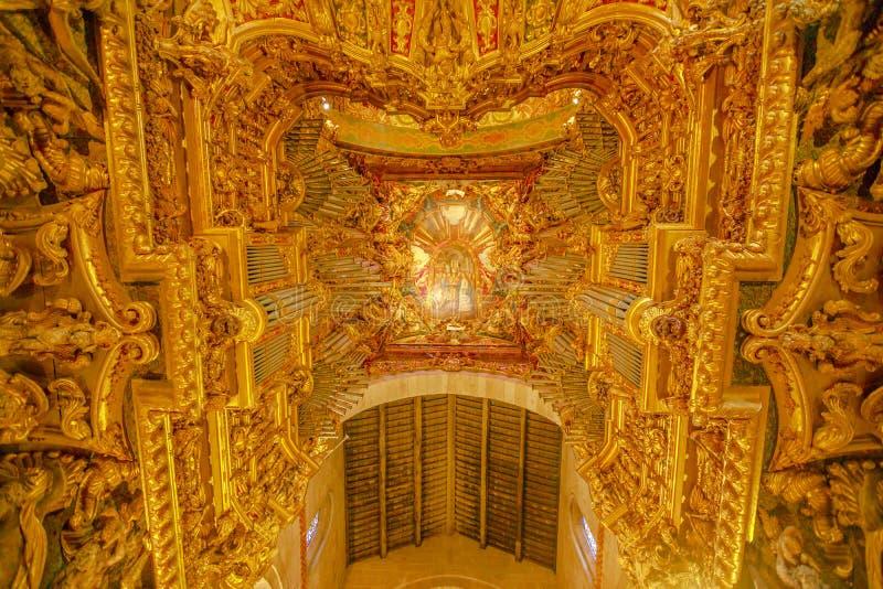 Plafond de cathédrale de Braga photographie stock libre de droits