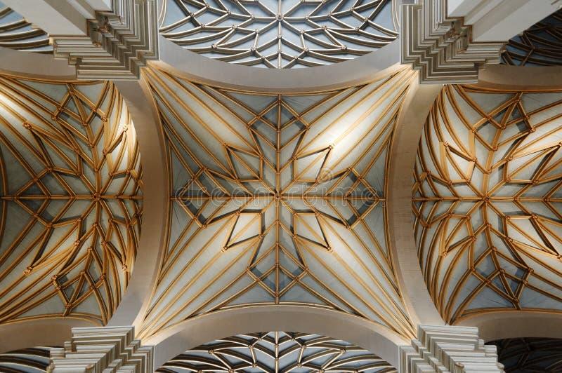 Plafond de cathédrale de Lima photo stock