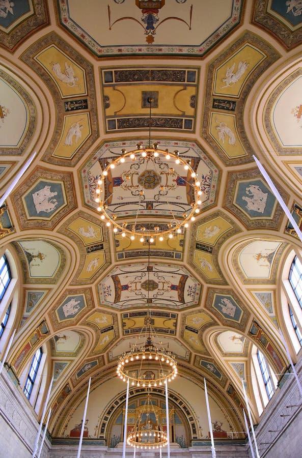 Plafond de chambre forte de baril au diamètre photos stock