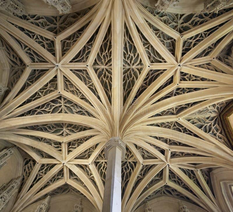 Plafond de chapelle de Musée de Cluny photos libres de droits