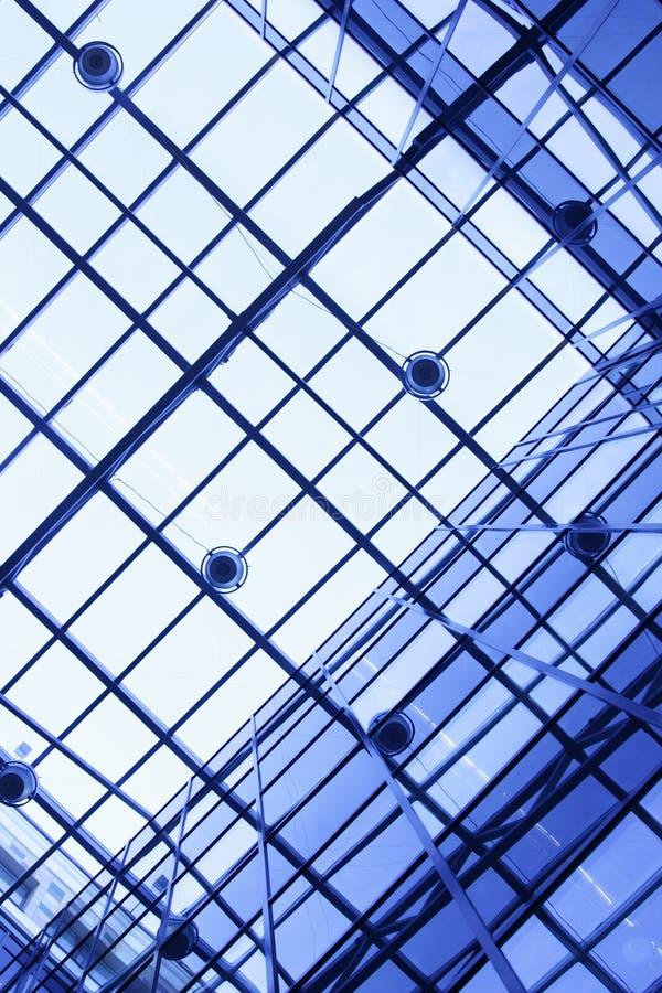 Plafond de l'immeuble de bureaux images libres de droits