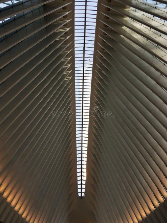 Plafond de l'un World Trade Center à Manhattan photographie stock libre de droits