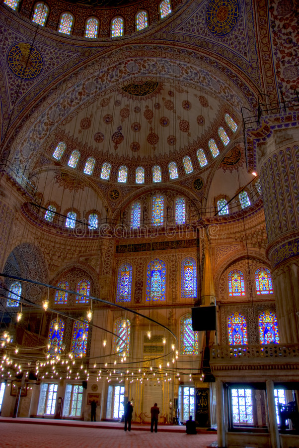 Plafond de mosquée de 427 bleus photo stock