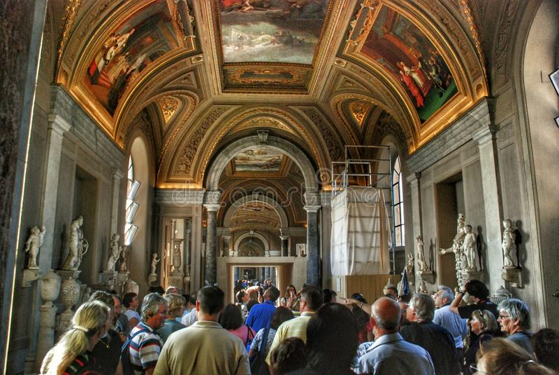 Plafond de musée de Vatican image stock
