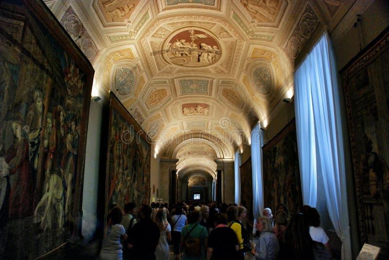 Plafond de musée de Vatican photo stock