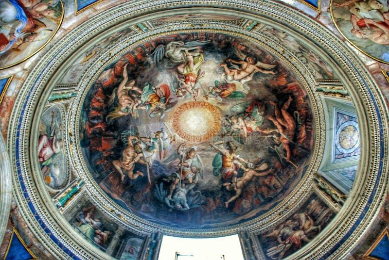 Plafond de musée de Vatican image libre de droits
