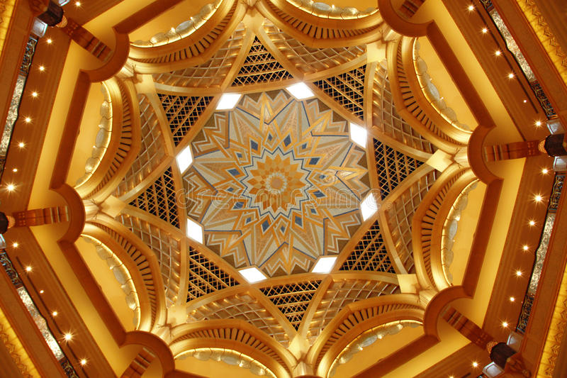 Plafond de palais d'Emirats images stock