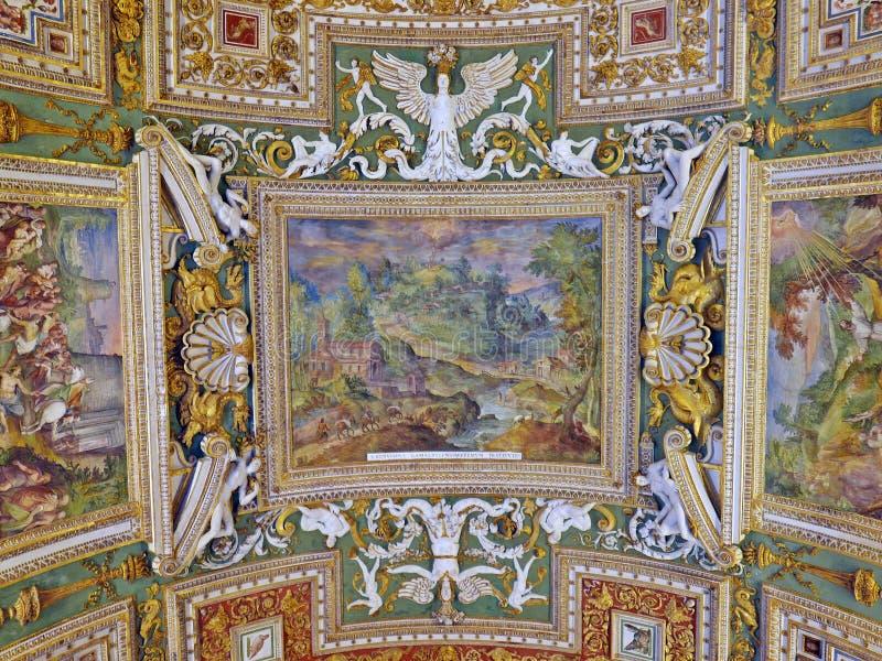 Plafond de peinture de Vatican photo stock