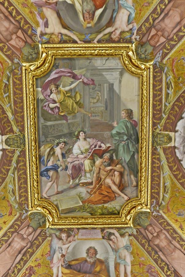 Plafond de peinture de Vatican image stock