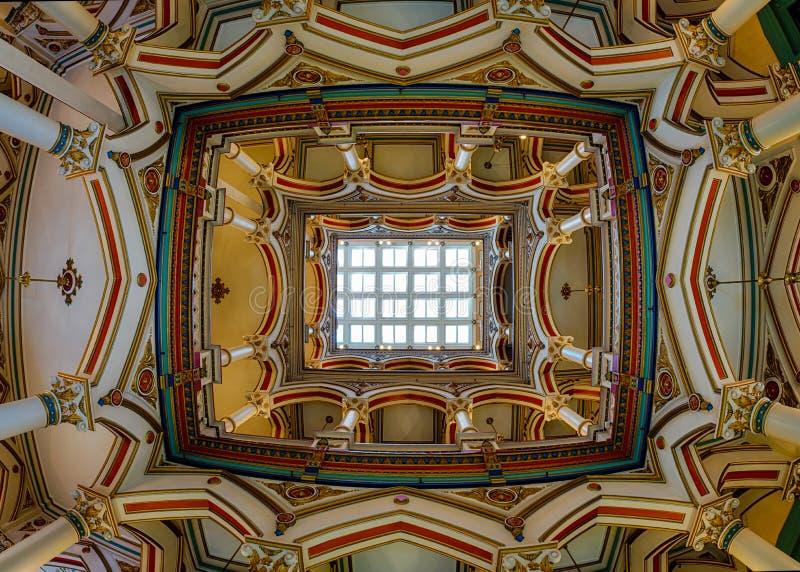Plafond de Richmond Old City Hall photo stock