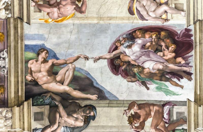 Plafond in de Sistine-Kapel stock afbeelding