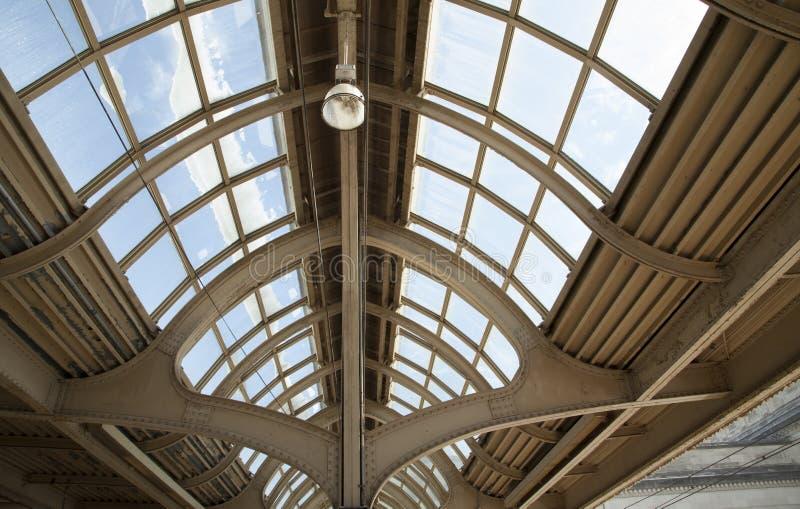 Plafond de vintage à la 30ème station de rue à Philadelphie images libres de droits