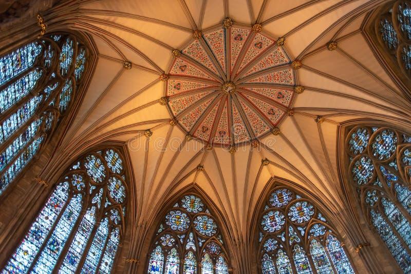 Plafond de York Minster photographie stock
