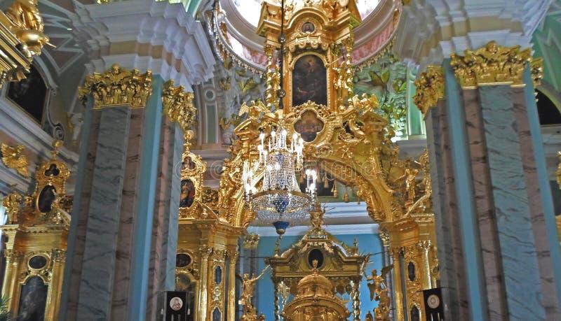Plafond des saints Peter et Paul Cathedral photos libres de droits