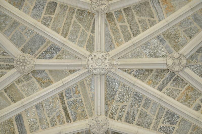Plafond en entrée de support Hall - Université de Princeton images libres de droits