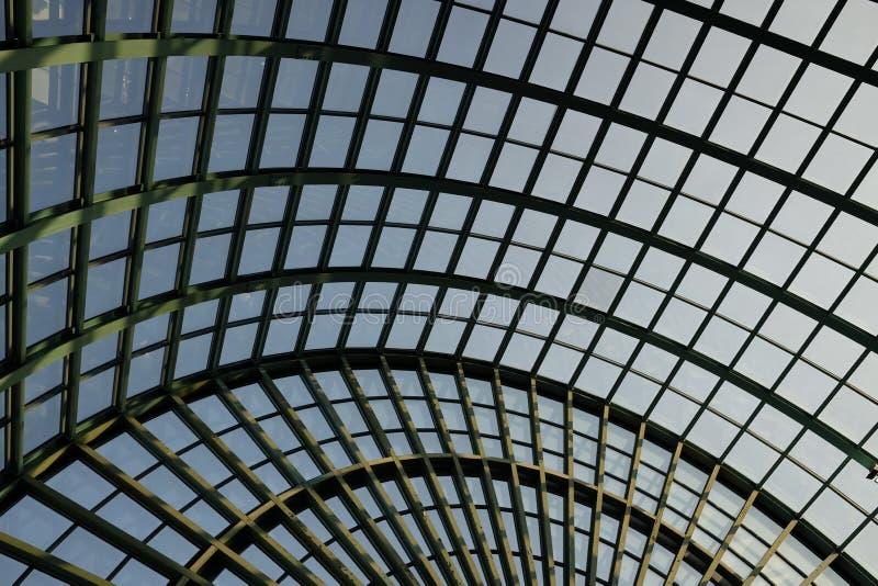 Plafond en verre circulaire photo stock