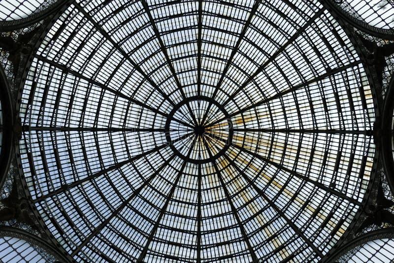 Plafond en verre d'Umberto Gallery images stock