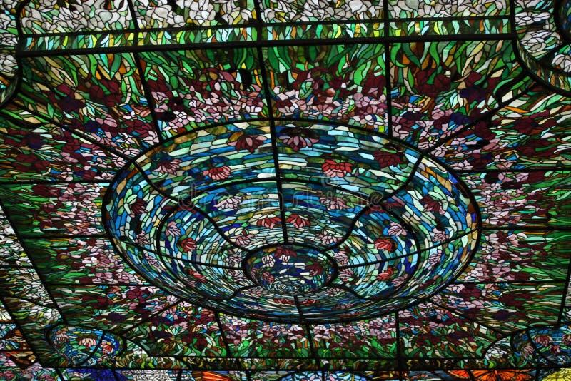 Plafond en verre souillé Coloured illustration de vecteur
